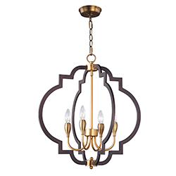 MAX 20293OIAB Crest-Chandelier Dry RatedXTraditionalBronze