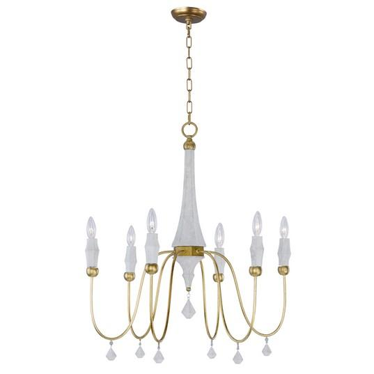 MAX 22436CSTGL Claymore-Chandelier Dry RatedXTraditionalGold