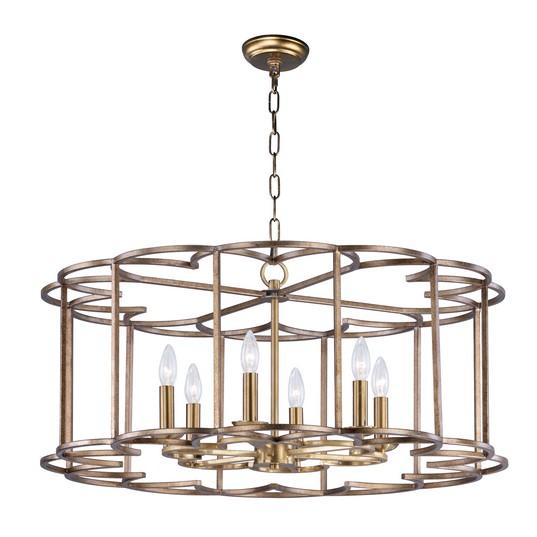 MAX 24735BZF Helix-Single-Tier Chandelier Dry Rated|LEDXTraditionalBronze