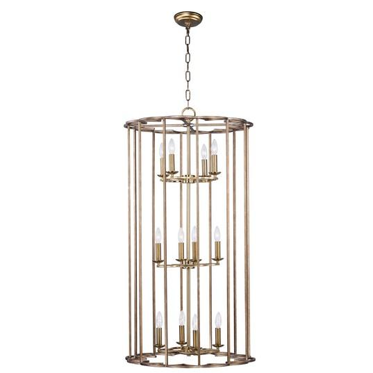 MAX 24738BZF Helix-Entry Foyer Pendant Dry Rated|LEDXTraditionalBronze