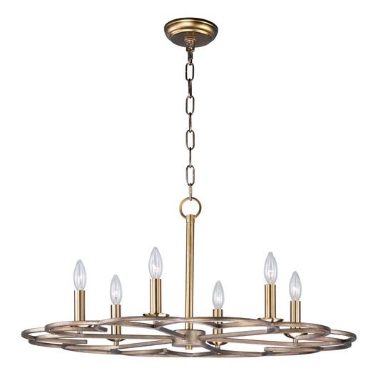 MAX 24739BZF Helix-Single-Tier Chandelier Dry Rated|LEDXTraditionalBronze
