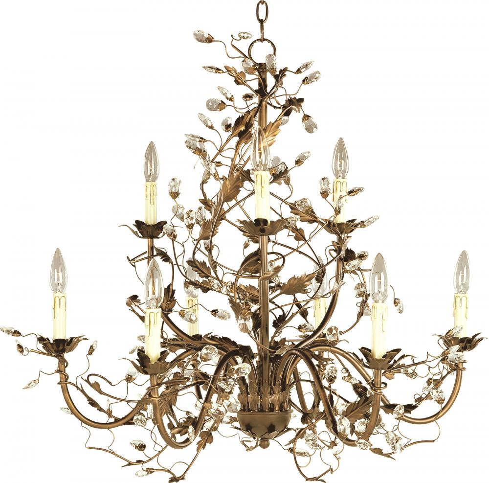 MAX 2852EG Elegante-Multi-Tier Chandelier Dry Rated|OutdoorXTropicalGold