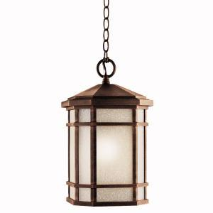 KIC 11021PR One Light Prairie Rock Hanging Lantern 1X18GU24