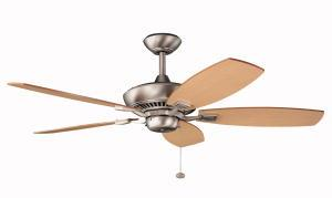 "KIC 300117NI 52"" Brushed Nickel Ceiling Fan"