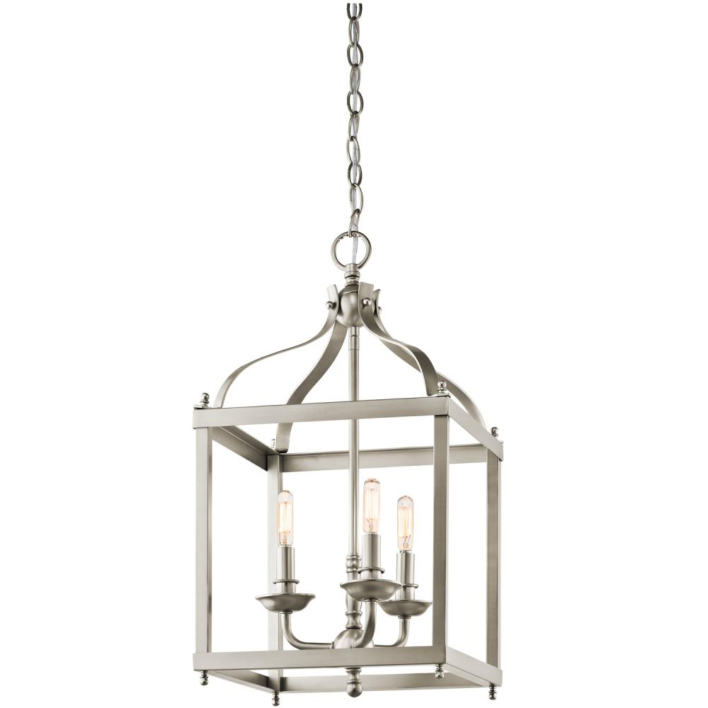 KIC 42566NI 3X60C Open Frame Foyer Hall Fixture brushed nickel