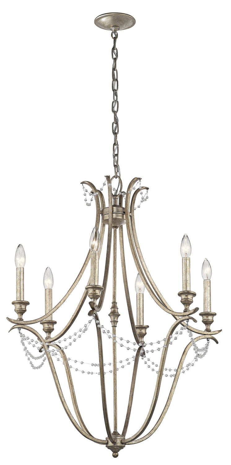 KIC 43608SGD Chandelier 6Lt 60C DISCONTINUED BY THE MFG 11/2019
