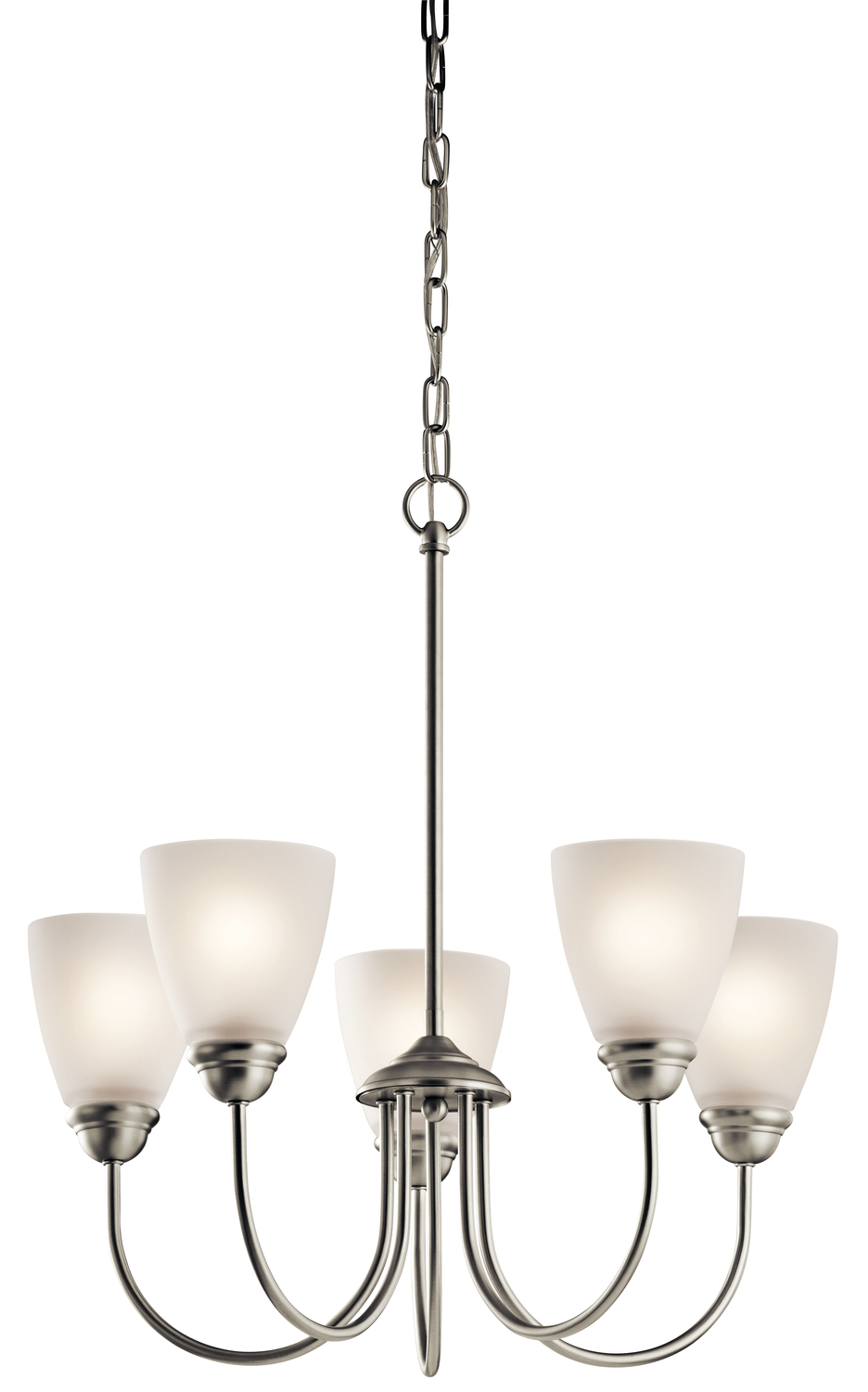 KIC 43638NI 5X100M Jolie Brushed Nickel Chandelier