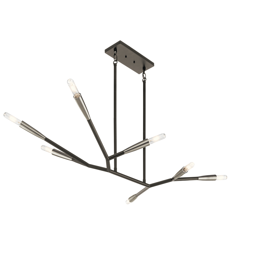 KIC 43795BK 7X60T10 Branches Black Chandelier
