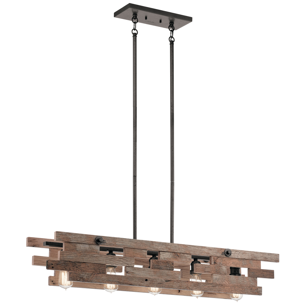 KIC 44229AVI Linear Chandelier 5Lt 5X75A19