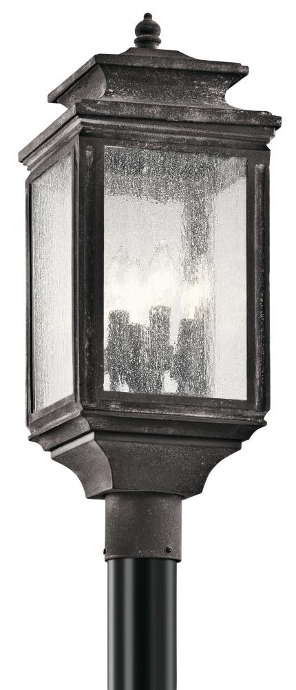 KIC 49506WZC 4X60C Post Light Weathered Zinc