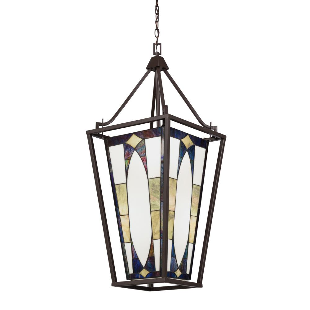 KIC 65421 Four Light Olde Bronze Foyer Hall Pendant 4X100Medium