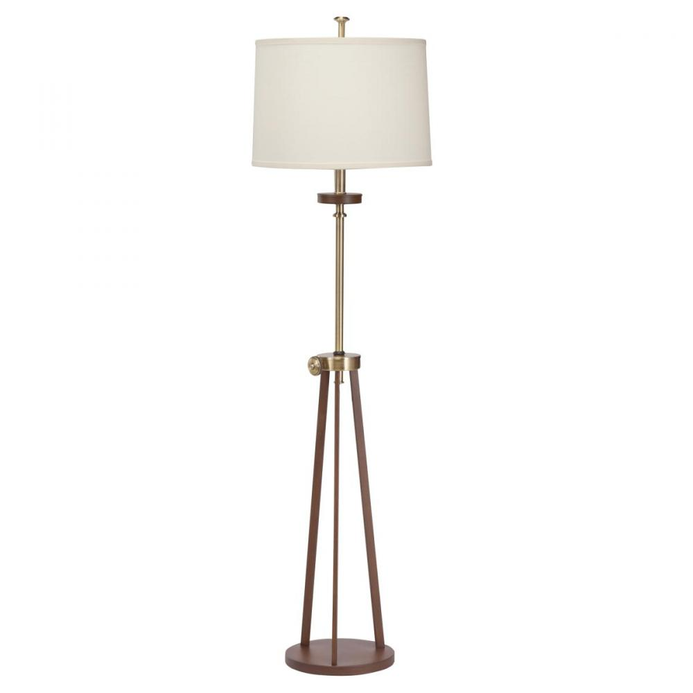 KIC 74262AB One Light Antique Brass Floor Lamp 1X100M