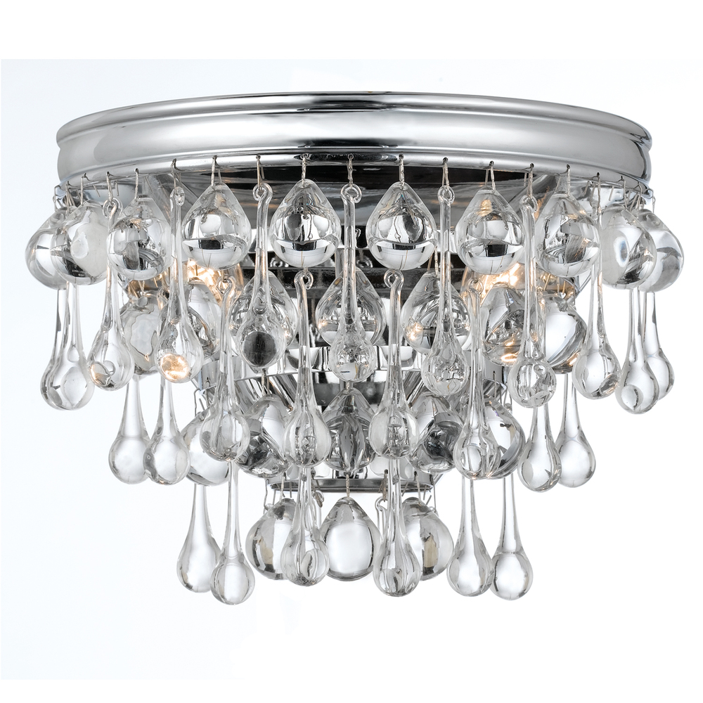 Crystorama 132-CH Chrome Sconce 2X60C