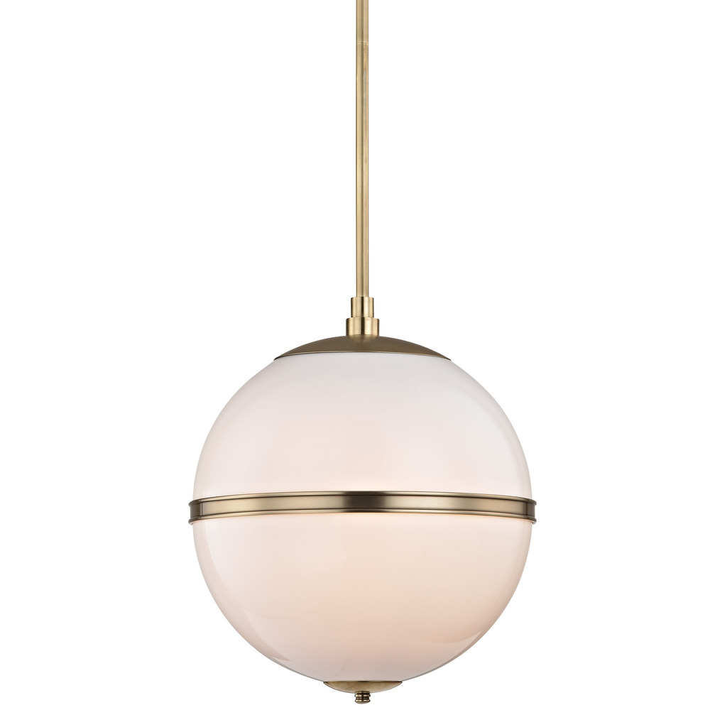 Brian Patrick Flynn for Crystorama Truax 3 Light Aged Brass Mini Chandelier