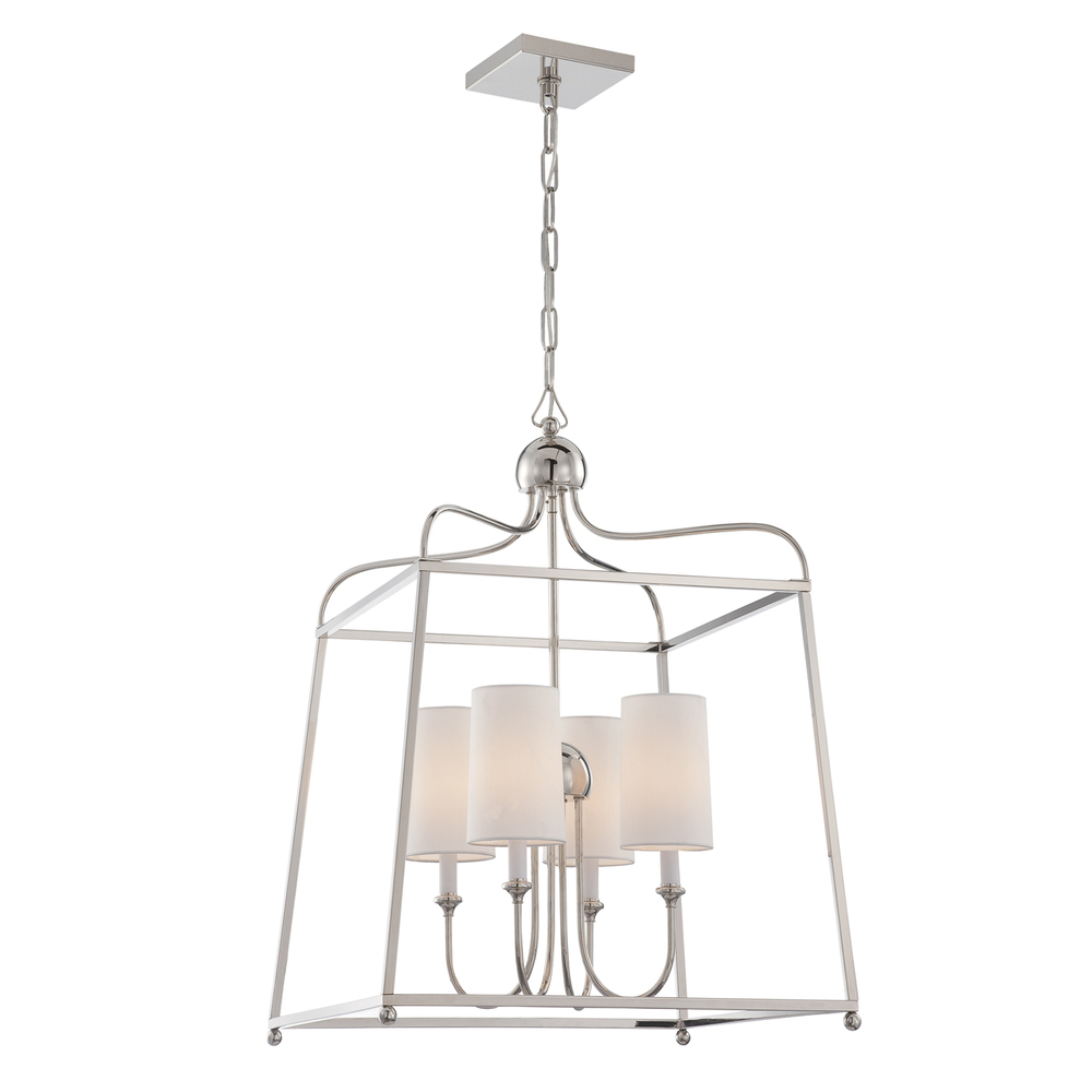 CYS 2244-PN LANTERN 4/60C Polish Nickel Chandelier