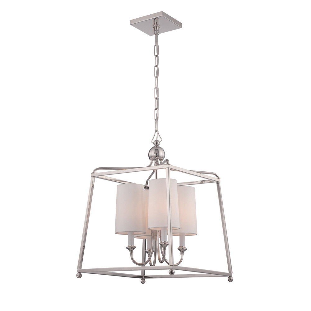 CYS 2245-PN Libby Langdon for Sylvan 4 Light Polished Nickel Pendant 4X60C