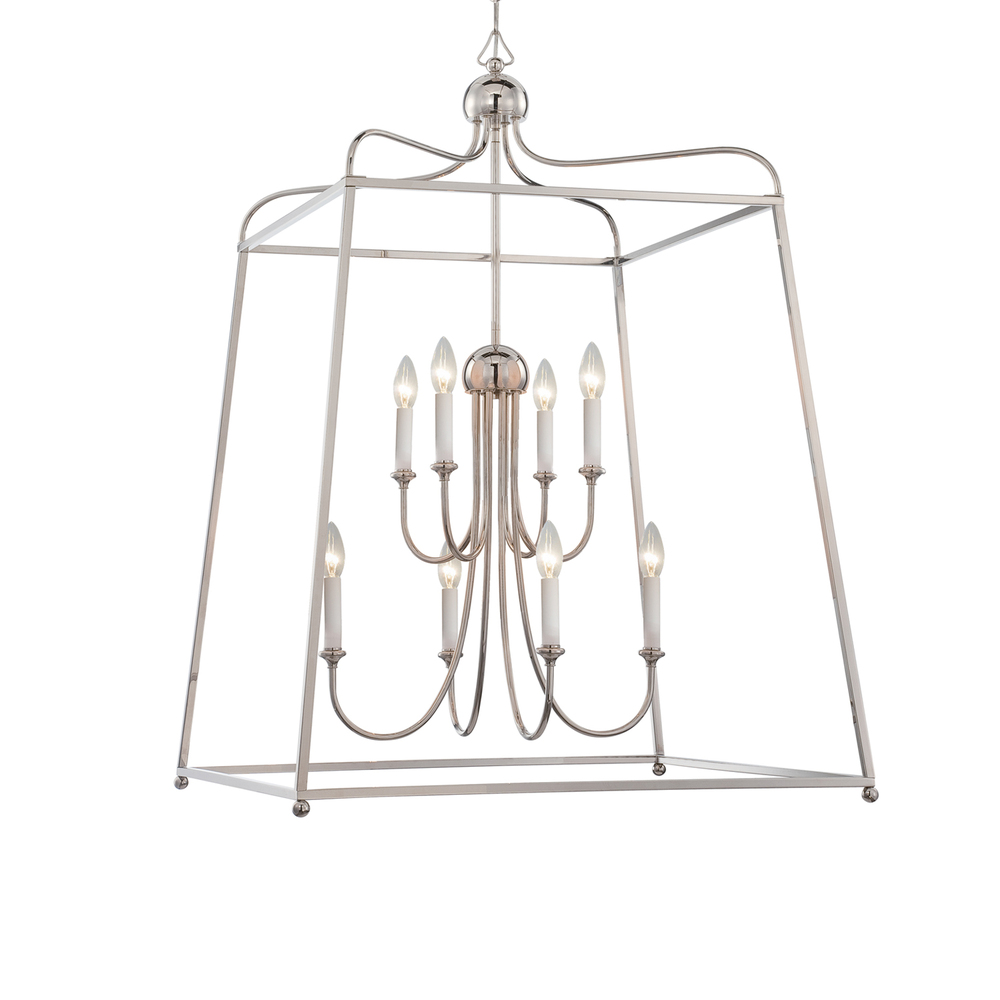 CYS 2248-PN Libby Langdon for Sylvan 8 Light Polished Nickel Chandelier 8X60C
