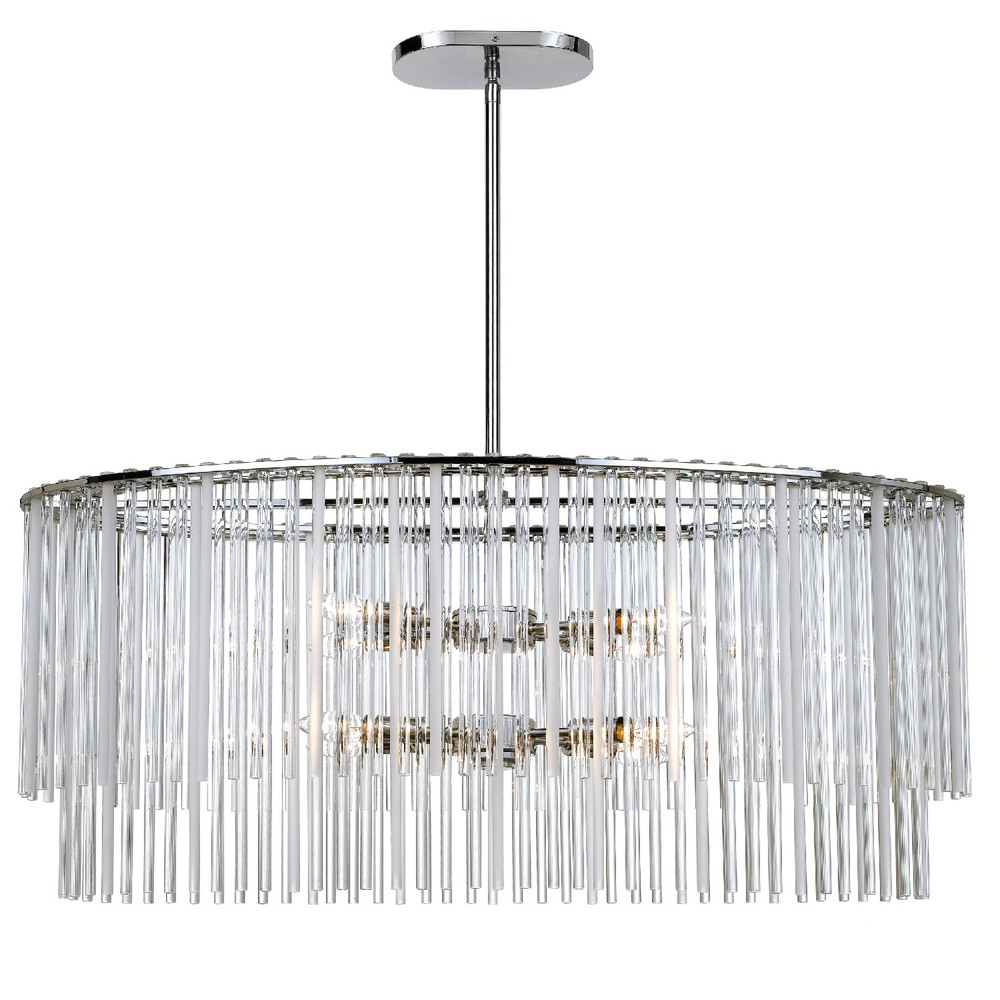 CYS 398-CH 8X60C Polished Chrome Bleecker Oval Chandelier