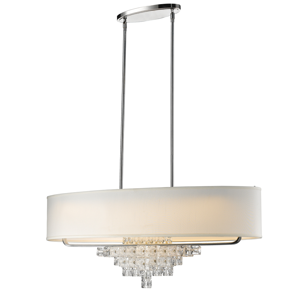 "CYS 6837-CH Addison 7Lt Polished Chrome Chandelier 42""W x 21""H x 12""D 100W Med lamp not included"