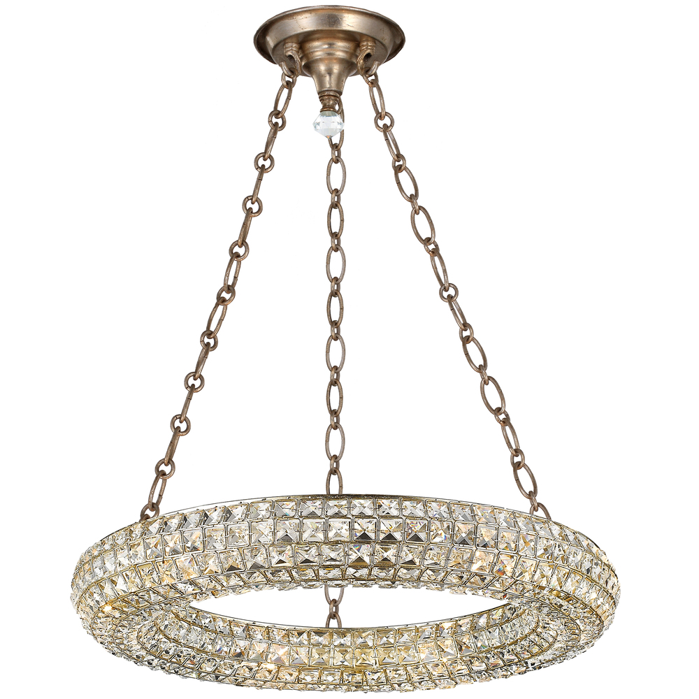 "CYS 7806-DT Genesis 6Lt Distressed Twilight Chandelier 24""W x 10.25""H 60W Candelabra lamp not included"