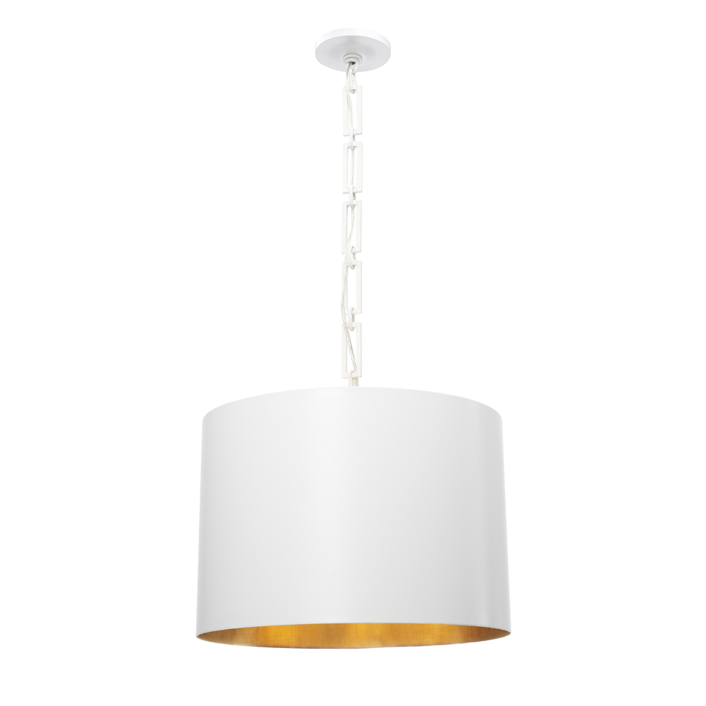 "CYS 8686-MT-GA Alston 6Lt Matte White Chandelier 20""W x 16.5""H 60W Med lamp not included"