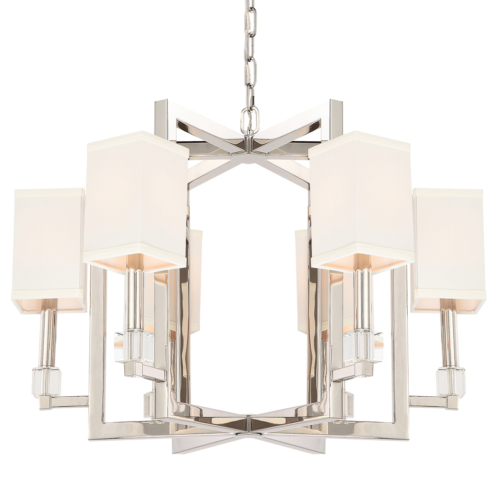 CYS 8886-PN Crystorama Dixon 6 Light Polished Nickel Chandelier