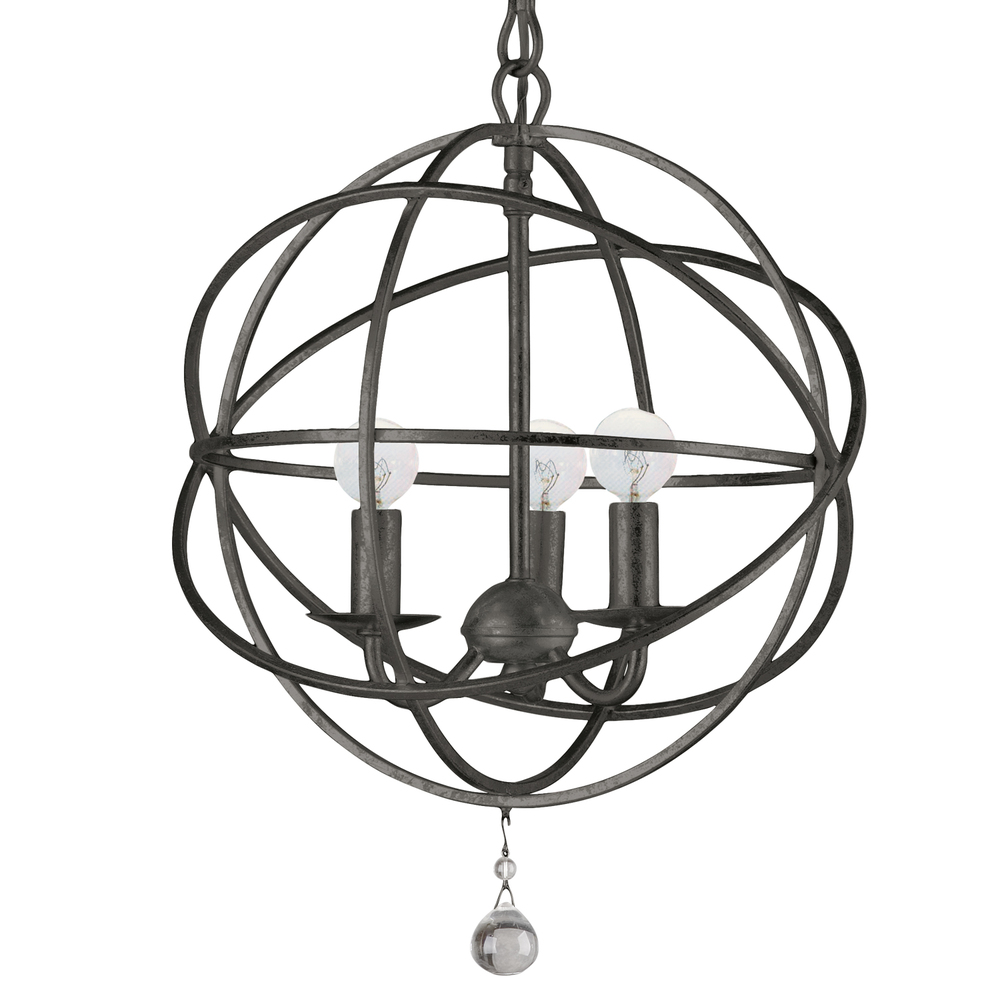 CYS 9225-EB 3X60C Solaris English Bronze Sphere Chandelier 12.5""