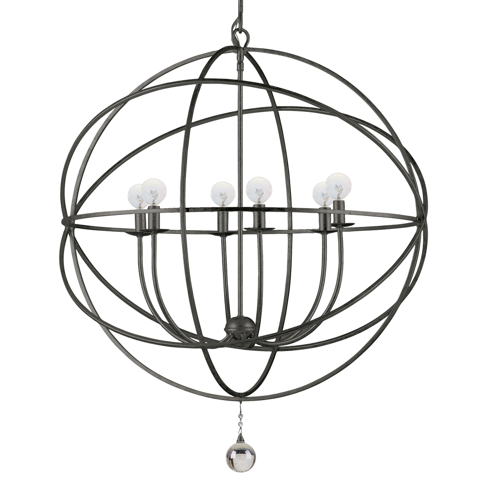 CYS 9226-EB 6X60C Solairis English Bronze Sphere Chandelier 22.5""
