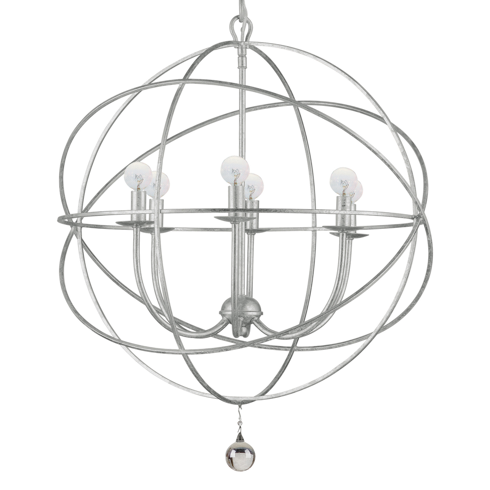 "CYS 9226-OS 6X60C Solairis Olde Silver Sphere Chandelier 22.5"" NEWSTOCK JUL 2019"
