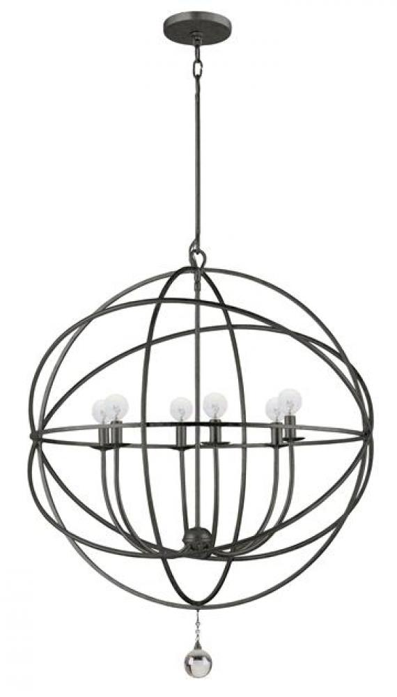 CYS 9228-EB 6X60C Solairis English Bronze Sphere Chandelier 28.5""