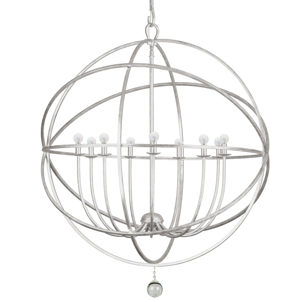 CYS 9229-OS 9X60C Solaris Olde Silver Sphere Chandelier 40""