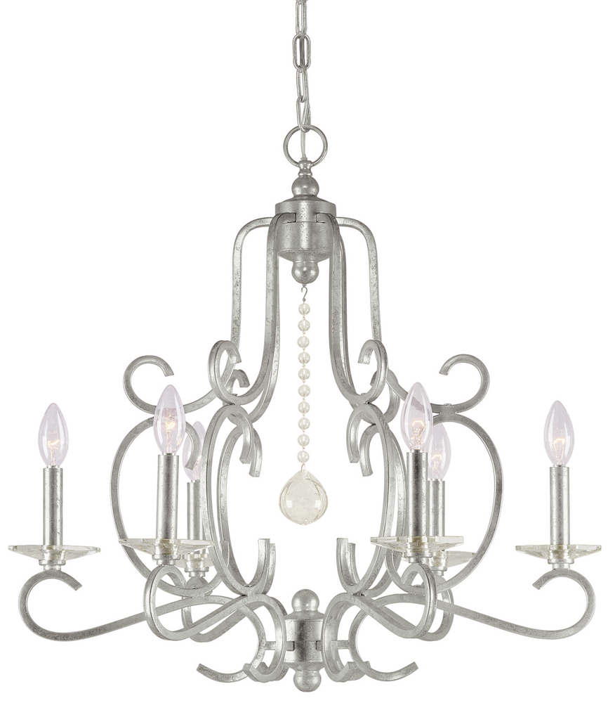 CYS 9346-OS Crystorama Orleans 6 Light Silver Chandelier 6X60C