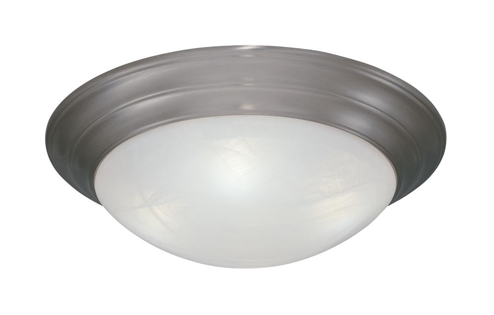 DEF 1245M-PW Two Light Pewter Medium Flush Mount 2X60M