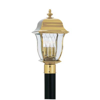 DEF 1556-PVD-PB Post Lantern Solid Brass 3X60C