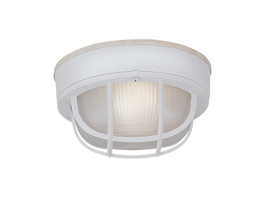 DEF 2073-WH One Light White Marine Light 1X60Medium