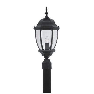 DEF 2436-BK One Light Black Post Light 1X100M