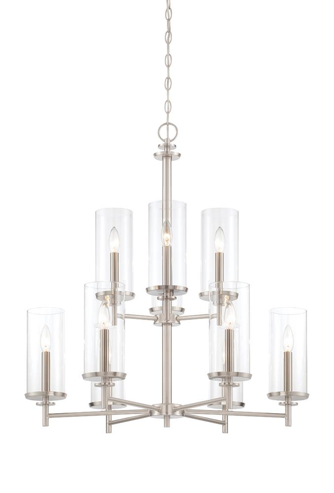 DEF 87289-SP 9 Light Chandelier