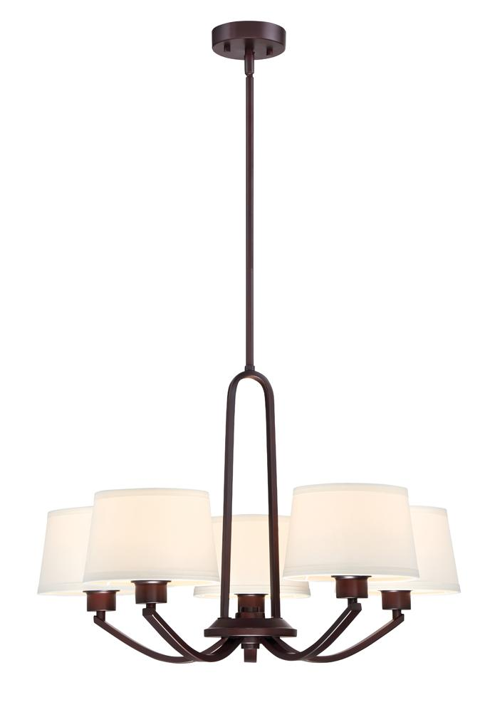 DEF 88585-SB Studio 5 Light Chandelier X60Medium