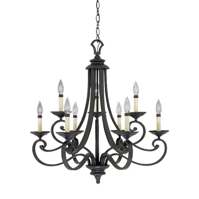 DEF 9039-NI 9 Light Chandelier 9X60Candelabra