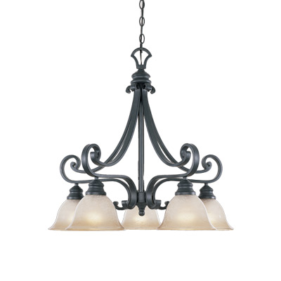 DEF 96185-NI 5 Light Down Chandelier 5X100Medium