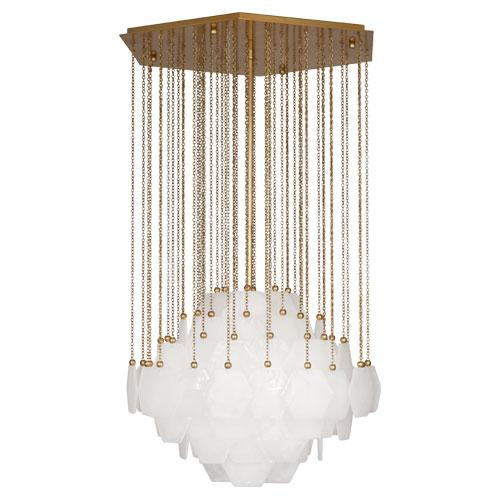 ROA 865 3-100M ANTIQUE BRASS VIENNA CHANDELIER