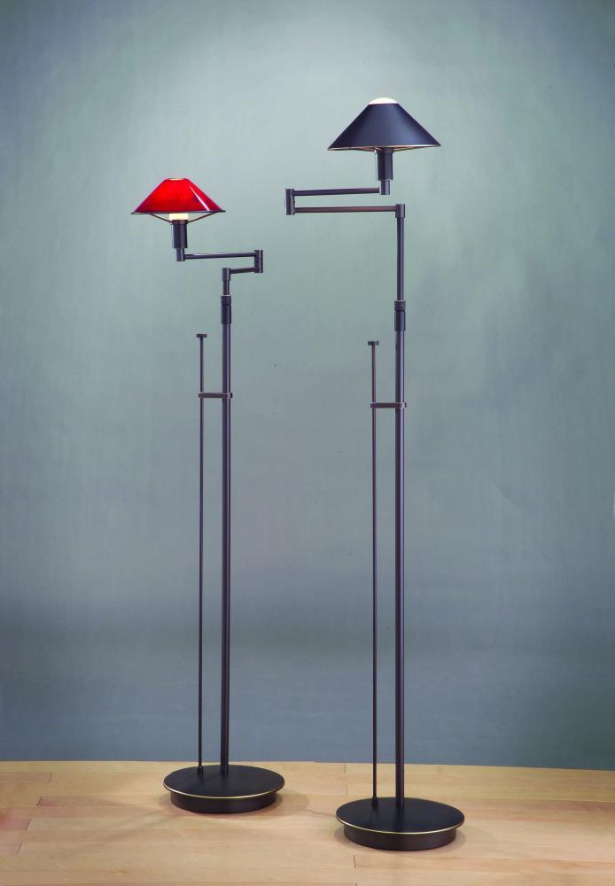 HLT 9424HBOB One Light Hand-brushed Old Bronze Floor Lamp 1X100B15d