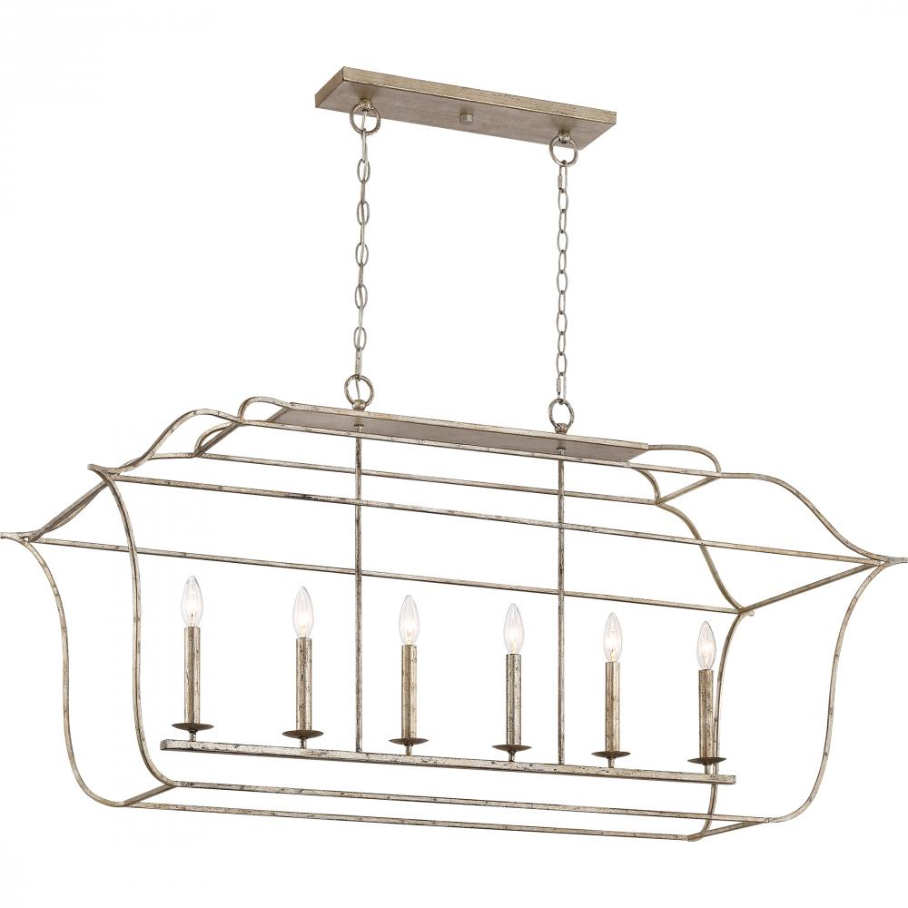 QUO GLY648CS Gallery Island Chandelier