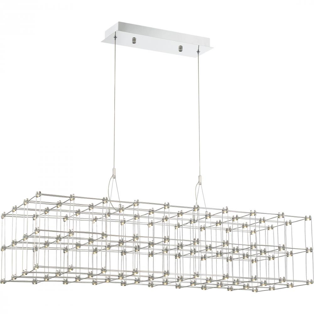 QUO PCLY140C Platinum Collection Labyrinth Island Chandelier