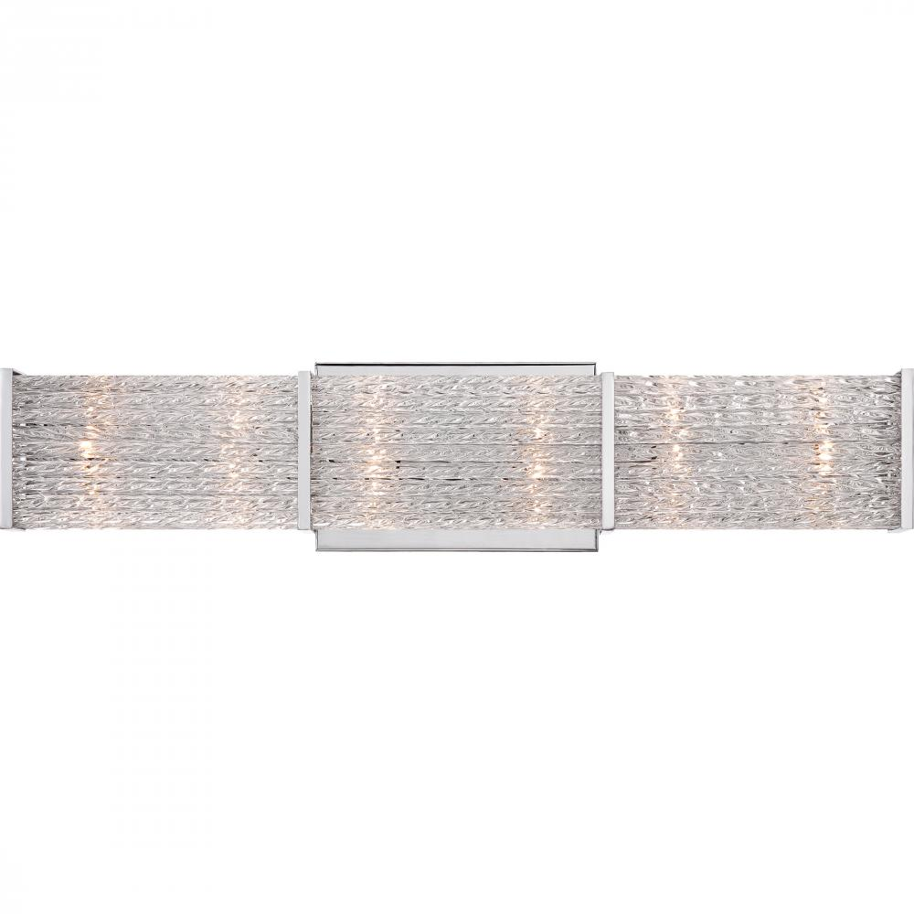 QUO PRN8606C Paragon Bath Fixture polish chrome 6X20W G4 Clear G4 Xenon