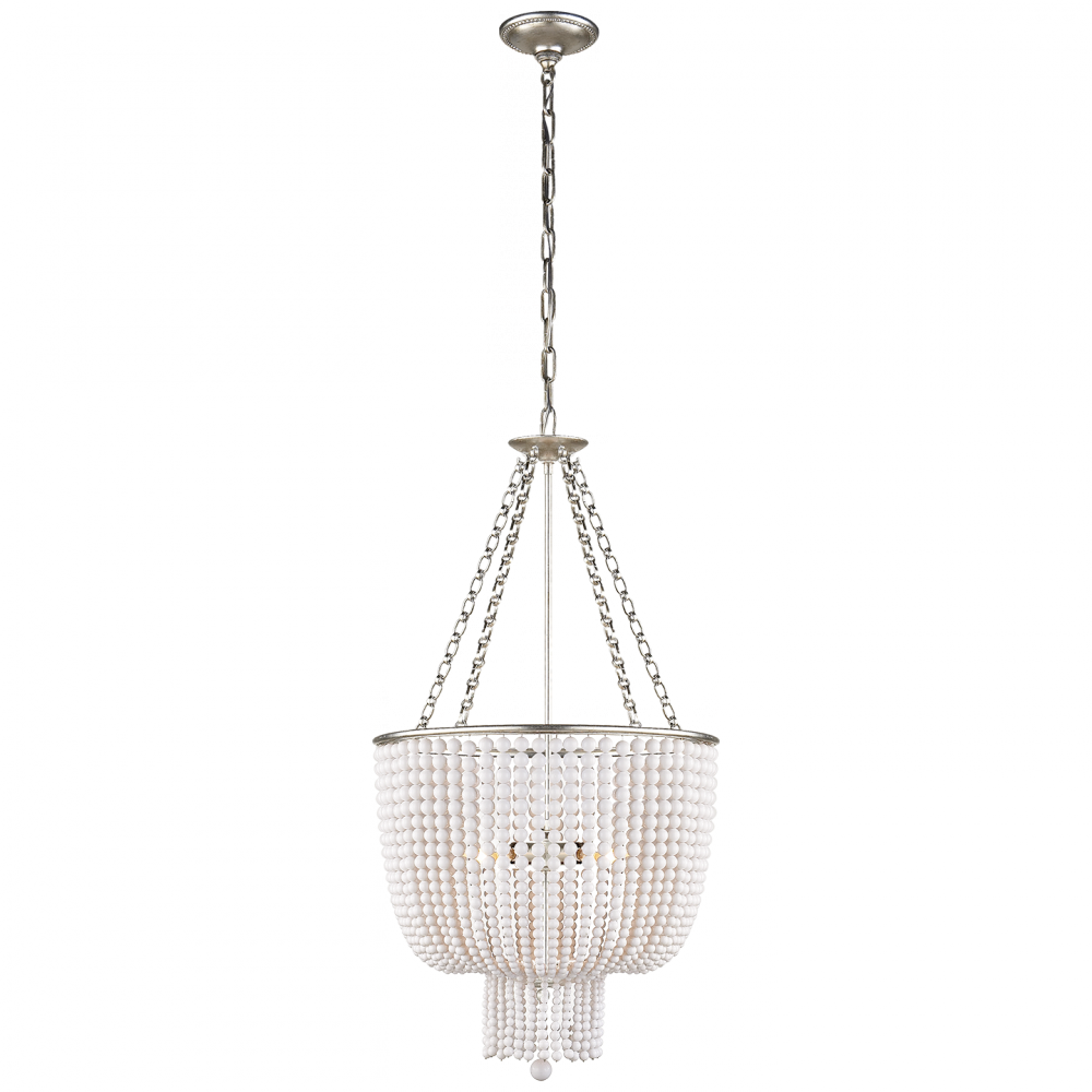 VCO ARN5102BSL-WG Jacqueline Chandelier in Burnished Silver Leaf w 4X