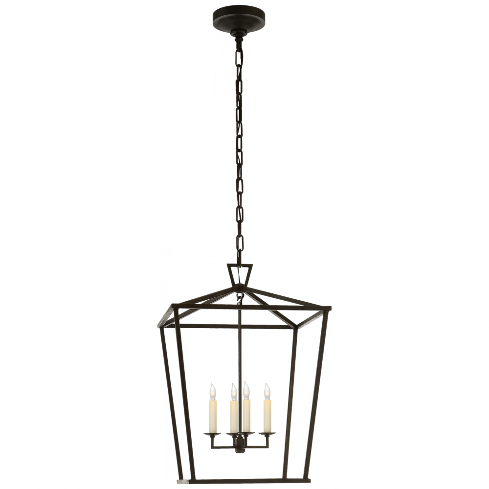 VCO CHC2165AI Darlana Medium Lantern in Aged Iron 4X60C