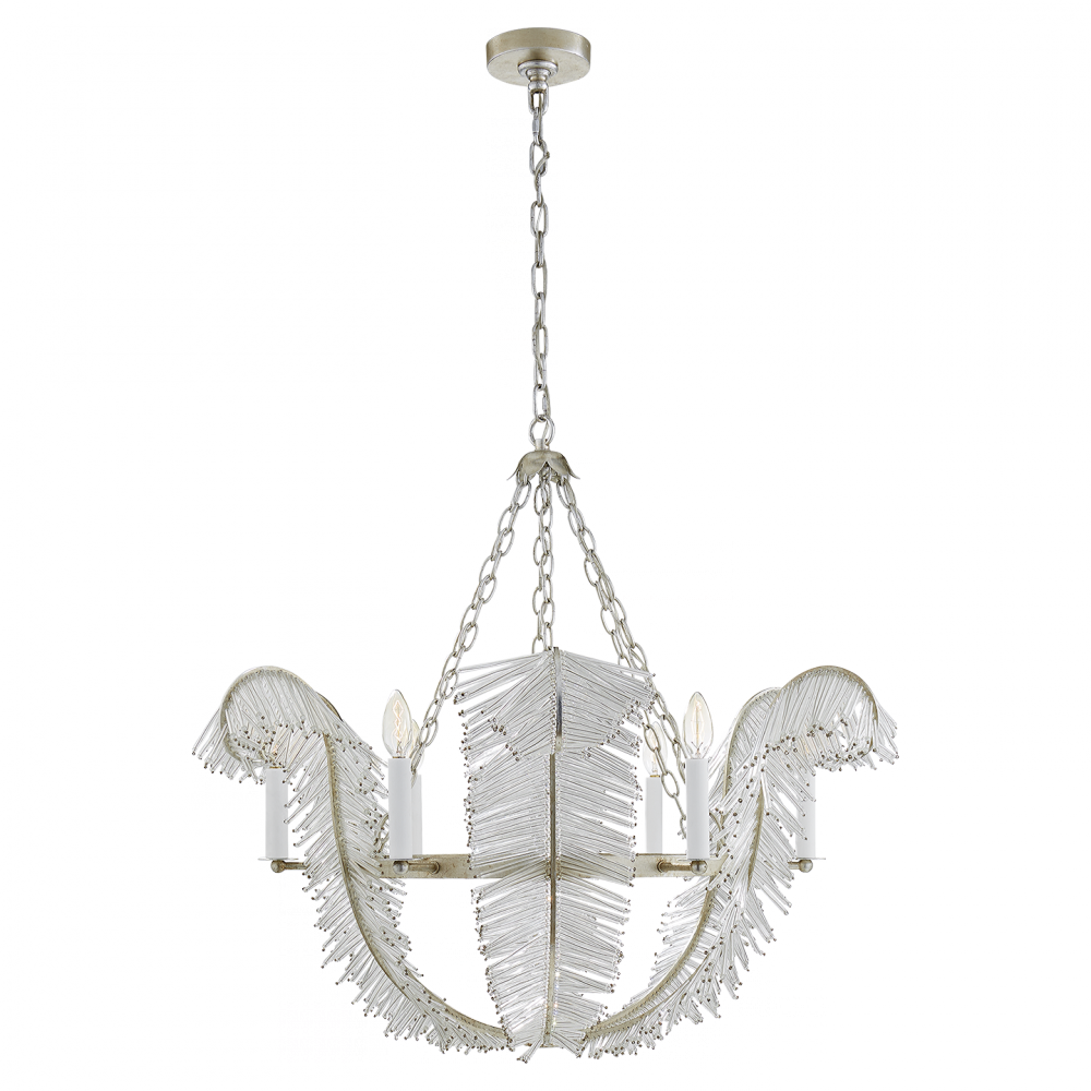 VCO NW5051BSL CALAIS CHANDELIER IN BURNISHED SILVER LEAF