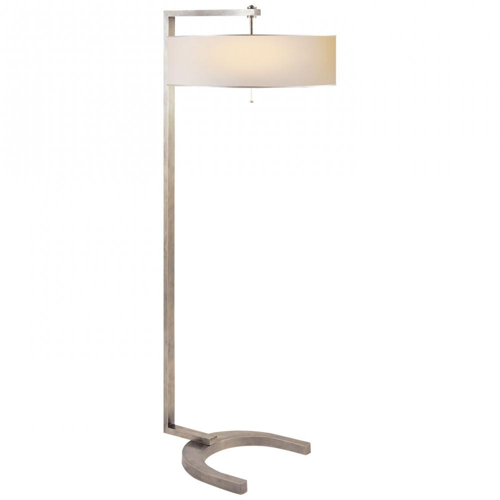 VCO TOB1004AN-WP/ST FLOOR LAMP W/ WHITEPAPER SHADE ***FINAL COST***
