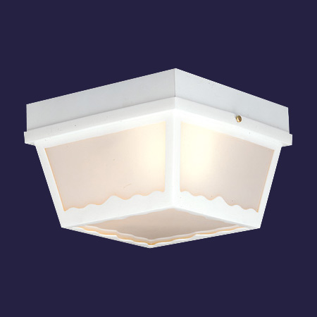 THO SL7598 2X60M Outdoor Ceiling Matte White ^^** * RED TAG ITEM *
